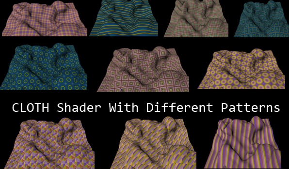 Cloth Shader With 10 Different Patterns - 3DOcean Item for Sale