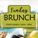 Sunday Brunch Flyer Template - GraphicRiver Item for Sale