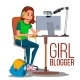 Girl Blogger Vector