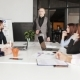 Serious Boss Talking To Employee at Workplace, Discussing Document, Reporting on Project - VideoHive Item for Sale