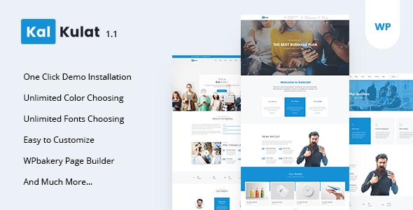 Image of Kalkulat - Multipurpose Business WordPress Theme