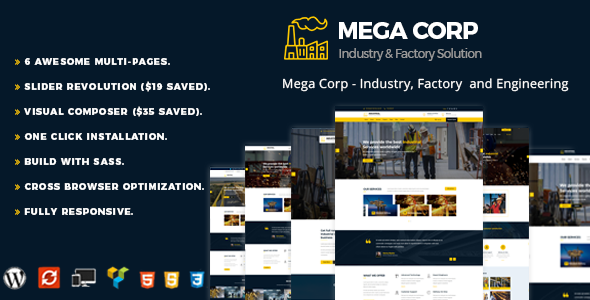 Industrial Industry & Factory - Industrial WordPress