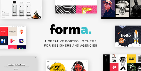 Image of Forma - A Creative Portfolio Template for Designers and Agencies