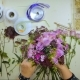 Overhead Hands of a Florist Puts Together a Bouquet of Flowers - VideoHive Item for Sale