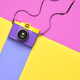 Fashion Film Camera. Pop Art Style. Minimal - PhotoDune Item for Sale