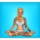 Vector Pop Art Tattooed Girl Doing Yoga - GraphicRiver Item for Sale