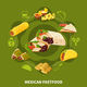 Mexican Fastfood Round Composition