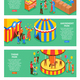 Amusement Park Horizontal Banners