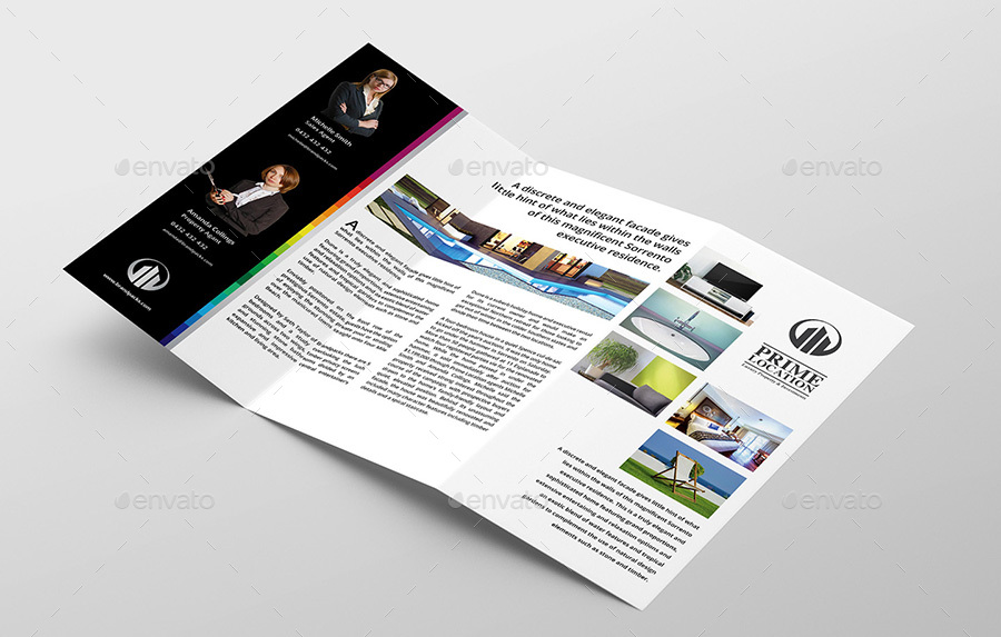 Real Estate TriFold Brochure Template By BrandPacks GraphicRiver - Real estate tri fold brochure template