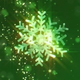 Magical Green Snowflakes - VideoHive Item for Sale