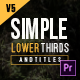 Simple Lower Thirds for Premiere - VideoHive Item for Sale