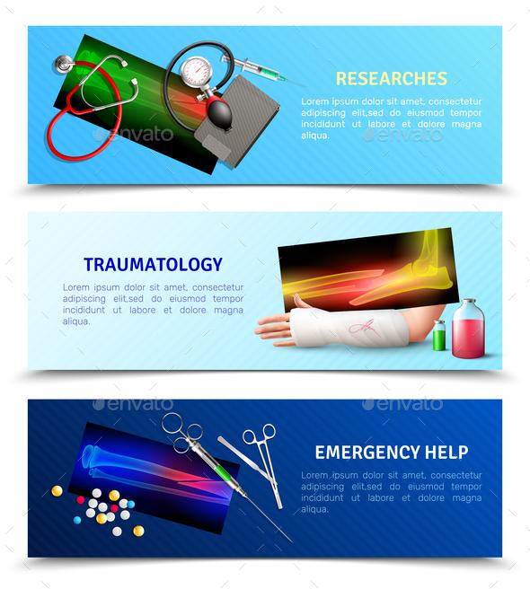 Medicine Surgical Traumatology Horizontal Banners - Health/Medicine Conceptual
