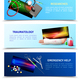 Medicine Surgical Traumatology Horizontal Banners - GraphicRiver Item for Sale