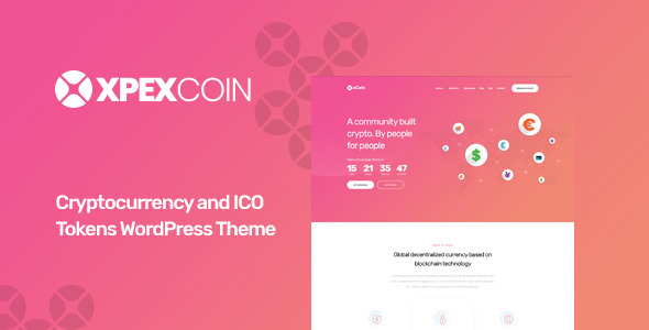 XPEXCoin - Powerful Bitcoin & Cryptocurrency WordPress Theme
