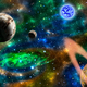Green galaxy background with planets and nebula - PhotoDune Item for Sale