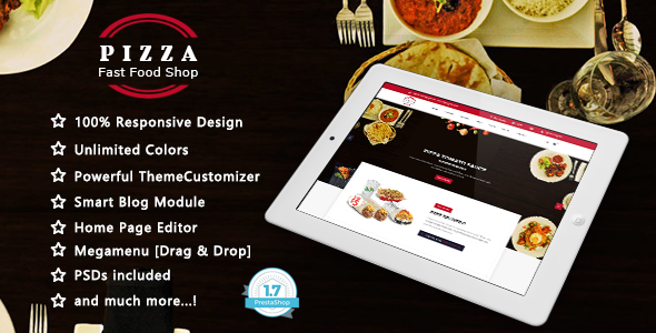 Pizza - Fast Food Responsive Prestashop 1.7 Theme - Health & Beauty PrestaShop