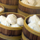 Chinese style bun in wooden steamer - PhotoDune Item for Sale