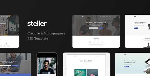 Steller - Marketing Landing Page PSD Template - Marketing Corporate