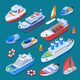 Ships Isometric Icons - GraphicRiver Item for Sale