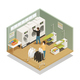 Laundry Equipment Isometric Composition