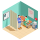 Inspection At Doctor Isometric Composition - GraphicRiver Item for Sale