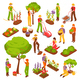 Gardening Isometric Set - GraphicRiver Item for Sale