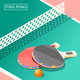Ping Pong Isometric Background - GraphicRiver Item for Sale