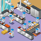 Isometric Robotic Restaurant Composition - GraphicRiver Item for Sale