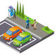 Parking Isometric Composition - GraphicRiver Item for Sale