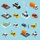 Autonomous Vehicle Isometric Icons Set - GraphicRiver Item for Sale