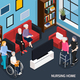 Nursing Home Isometric Composition - GraphicRiver Item for Sale