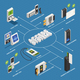 Access Systems Isometric Flowchart - GraphicRiver Item for Sale