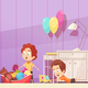 Children Room Cartoon Illustration - GraphicRiver Item for Sale