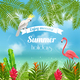 Enjoy Tropical Summer Background - GraphicRiver Item for Sale