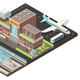 Isometric Airport And Metro Station Concept - GraphicRiver Item for Sale
