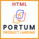 Portum - Single Product Landing Intro Page HTML Template - ThemeForest Item for Sale