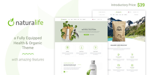 Image of NaturaLife | Health & Organic WordPress Theme