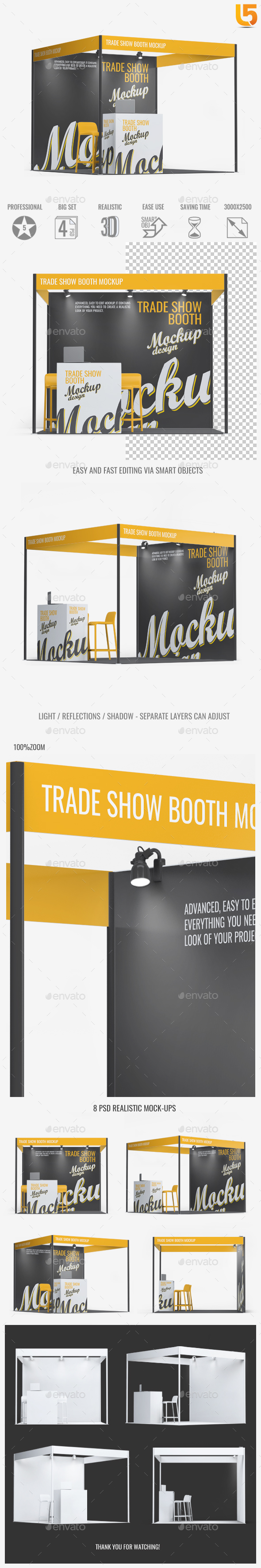Trade Show Booth Mock-up - Signage Print