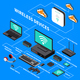 Wireless Devices Isometric Composition - GraphicRiver Item for Sale