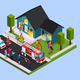 Rescue Team Isometric Composition - GraphicRiver Item for Sale