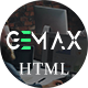 Gemax - One Page Parallax - ThemeForest Item for Sale