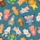 Seamless Pattern with Illustrations of Kids - GraphicRiver Item for Sale