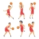 Sport Illustrations. Characters Set of Basketball - GraphicRiver Item for Sale