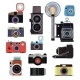 Retro Old Cameras and Symbols for Photographers