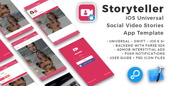 Storyteller | iOS Universal Video Sharing App Template (Swift) - CodeCanyon Item for Sale