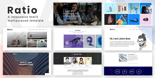 RATIO – A Responsive Multipurpose HTML5 Template - Creative Site Templates