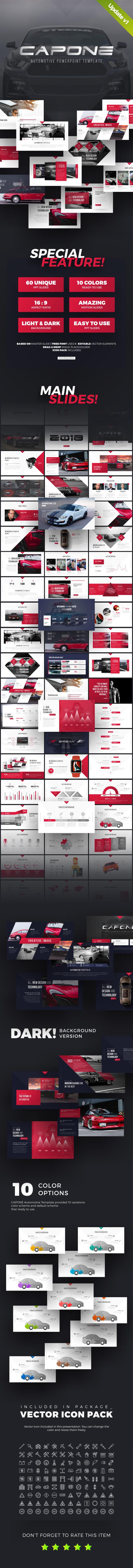 Capone Automotive Presentation Template - PowerPoint Templates Presentation Templates