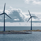 Wind turbines in the baltic sea. Renewable energy. Finland seascape - PhotoDune Item for Sale
