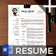 Plus Resume CV Template - GraphicRiver Item for Sale