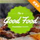 Good Food Keynote Presentation Template - GraphicRiver Item for Sale